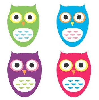 Colorful Owls Decor Pack