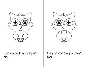 Colorful Owls Emergent Reader