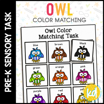 Folder Game: Owl Color Matching for Students with Autism & Special Needs