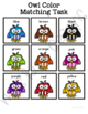 Colorful Owls Matching Folder Game for Early Childhood Spe
