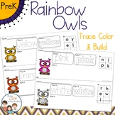 *Updated* Rainbow Owls Trace Color and Build Writing Cente