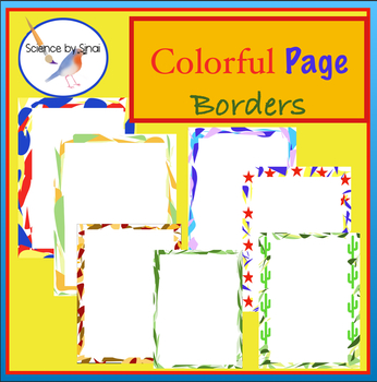 Colorful Page Borders/Frames by Science by Sinai | TpT