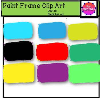 Colorful Paint Frames Clip Art