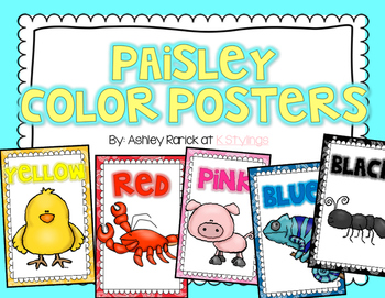 Colorful Paisley Color Posters