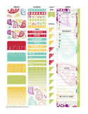 Colorful Paisley - Teacher Planner Weekly Layout Stickers