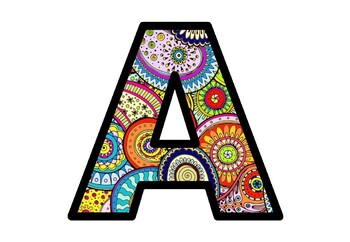 Colorful Paisleys, Art Bulletin Board Letters, Classroom Decor Alphabet Posters