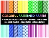 Colorful Paper Backgrounds (110 Different Backgrounds)