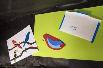 Colorful Paper Birds & an Intro to Composition, Space & Shape
