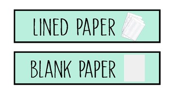 Colorful Paper Drawer Labels