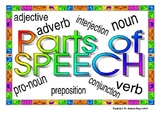 Colorful Parts of Speech Visuals/Posters