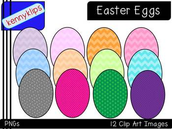 Colorful Patterned Easter Eggs Clip Art