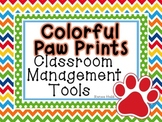 Colorful Paw Prints Classroom Management Set
