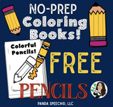Colorful Pencils Basic Concepts Coloring Book: NO PREP!