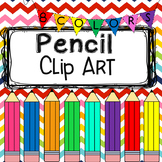 Colorful Pencils Clip Art