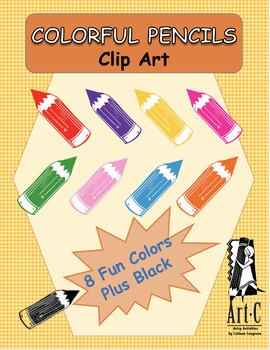 Colorful Pencils Clip Art