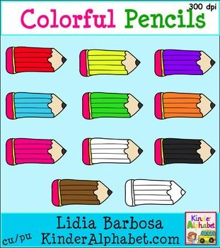 Colorful Pencils {Clip Art for Teachers}