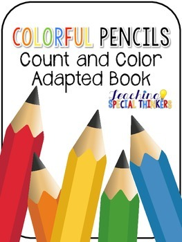 Colorful Pencils Count and Color Book