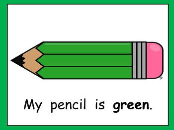 Colorful Pencils- Kindergarten EASY Shared Reading PowerPoint- Back to School