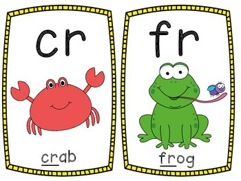 Colorful Phonics Posters: Blends and Digraphs