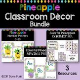 Pineapple Classroom Decor Bundle Calendar Alphabet Number Posters