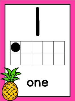 Colorful Pineapple Themed Number Posters [0-20] FREEBIE