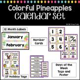 Pineapples Classroom Theme Decor Colorful Calendar Set