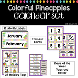Pineapples Classroom Decor Colorful Calendar Set