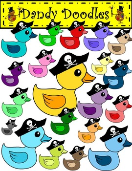 Colorful Pirate Duckies Clip Art by Dandy Doodles
