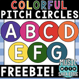 Colorful Pitch Circles - For Printables, Displays, and Bul