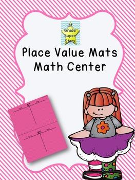 Colorful Place Value Mats - Math Center