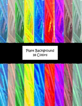 Colorful Plant Digital Background Papers
