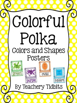 Colorful Polka Colors and Shapes Posters