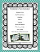 Science Vocabulary Flip Fans - 2nd grade - EDITABLE TEXT!