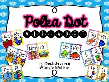 Colorful {Polka Dot} Alphabet!