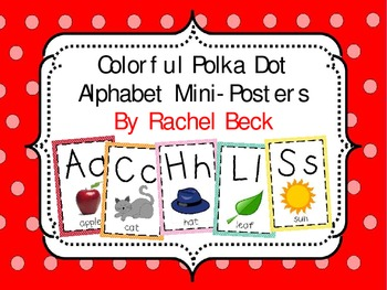 Colorful Polka Dot Alphabet Mini-Posters