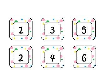 Colorful Polka Dot Classroom Labels