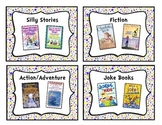 Colorful Polka-Dot Classroom Library Book Basket Labels Add-On Pack