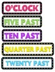 Colorful Polka Dot Clock Labels