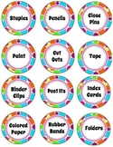 Colorful Polka Dot Labels for Classroom Organization