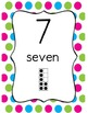 Colorful Polka Dot Number Line 1-120