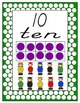 Colorful Polka-Dot Number Signs 1-20