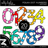 Colorful Polka Dot Numbers Clipart {A Hughes Design}