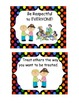 Colorful Polka Dot Rules posters