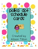 Colorful Polka Dot Schedule Cards