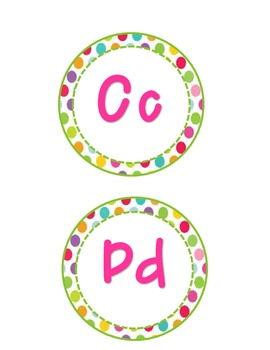 Colorful Polka Dot Word Wall Letters