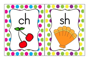 Colorful Polka Dot Alphabet Line with Digraphs and Blends