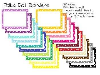 Borders: Colorful Polka dots