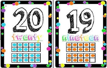 Colorful Polka-dot Numbers 1 - 20
