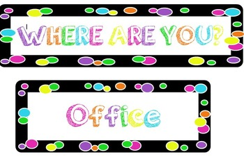 """Colorful Polka-dot """"Where are You"""" Magnets"""