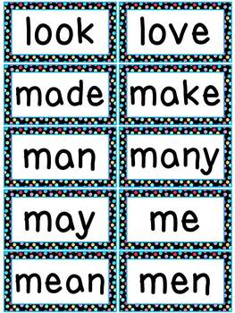Colorful Polkadots Word Wall Words and Headers